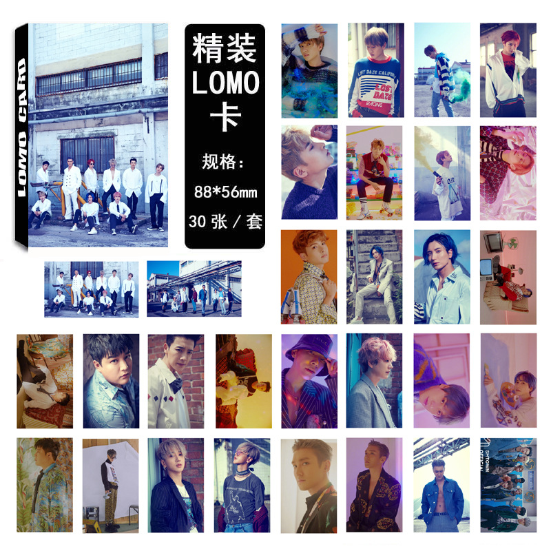 Kpop Photocards Super Junior SJ02 Stray Kids Kpop Accessories Time_Sli Same Figure LOMO Box Small Card Set