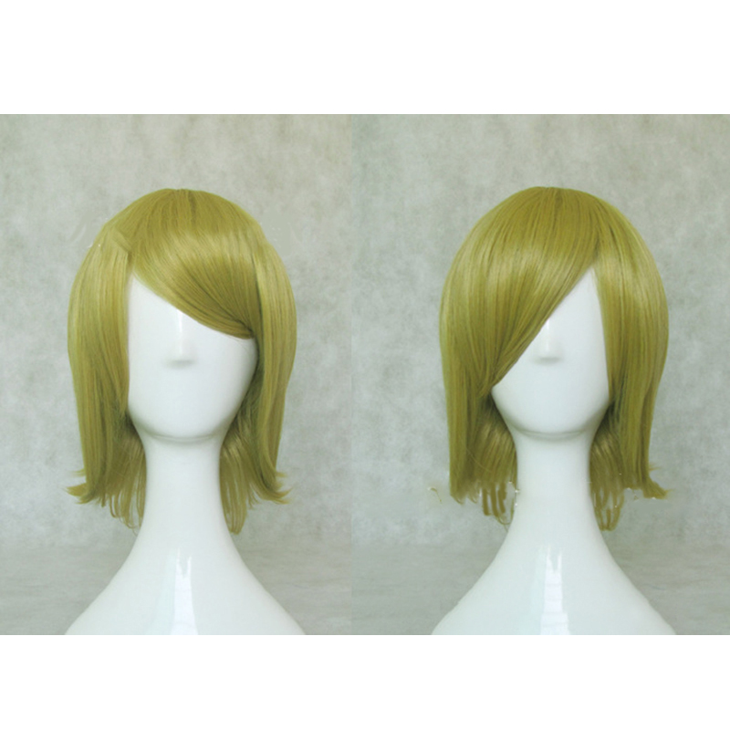 HAIRJOY Synthetic Hair Short Blonde Vocaloid Kagamine Rin Cosplay Wig High Temperature Fiber Free Shipping 3 Colors Available 5