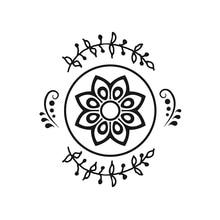 YaMinSanNiO Flower Circles Metal Cutting Dies Floral Branch Wreath Round Scrapbooking for Making Cards Embossing Crafts Stencils