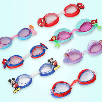 10 Colors Durable Silicone Cartoon Swimming Glasses Kids Child Swimming Goggles Anti Fog Waterproof Diving Mask Eyewear Outdoor
