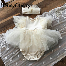 2020 summer baby girl bodysuits princess short sleeve bodysuit