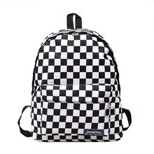 2019 Hot Sale Women Men Unisex Lattice Backpack New Trend checkerboard Teenager School Bag Couples Back Pack Travel Bag(China)