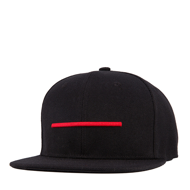 2019 3D Embroidery Flat Hat Autumn And Winter Fashion Men's Hats Red Embroidery Horizontal Baseball Cap 100%cotton Snapback Caps