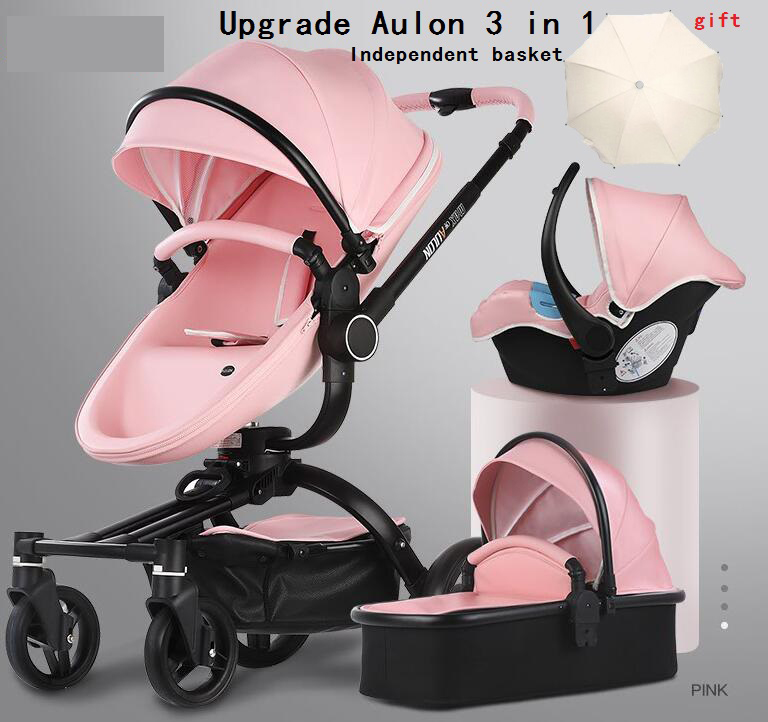Todo envío gratis Aulon de lujo cochecito de bebé 3 en 1 de la Tierra-scape de transporte europeo cochecito de diseño en 2019