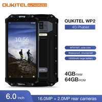 "OUKITEL WP2 IP68 Wasserdicht Staub Shock Proof Handy 4GB 64GB MT6750T Octa Core 6,0 ""18:9 10000mAh Fingerprint Smartphone"