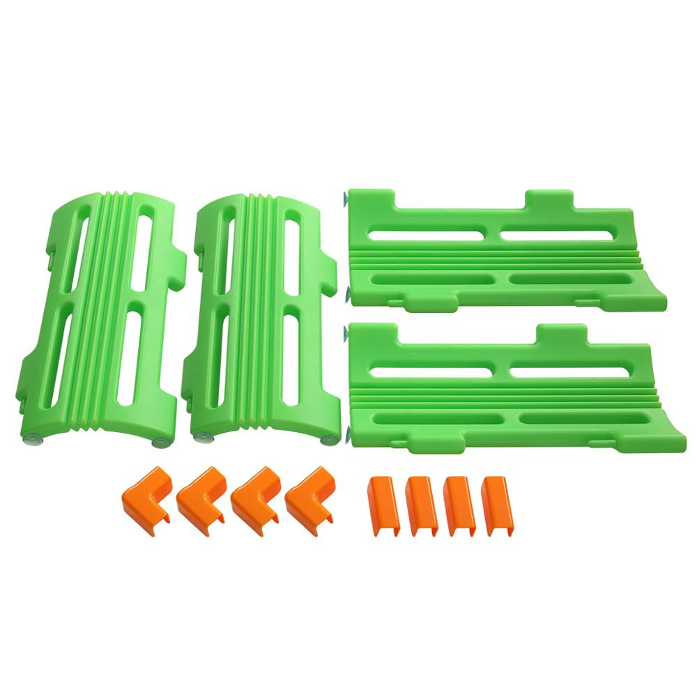 4Pcs Baby Playpen Corner Piece Extension Panel Set For Children Safety Green Play Center Yard Home Fence Easy To Assemble CL5767