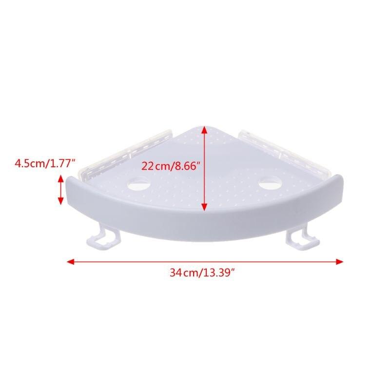 Прямая поставка, угловая полка для ванной комнаты, тройная настенная угловая полка для хранения, не маркая полка - 3