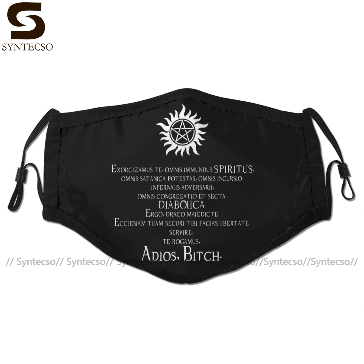 Pentagram Mouth Face Mask Supernatural Adios Bitch Exorcism Facial Mask Funny Fashion With 2 Filters For Adult