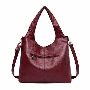 Image 3 - 2/S 女性レザーハンドバッグ高品質の財布やハンドバッグ 2019 女性ソフトレザーショルダーバッグメイントートバッグ女性