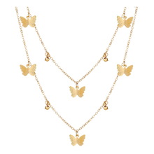 New Fashion Butterfly Necklace Simple Alloy Pendant Clavicle Chain For Woman