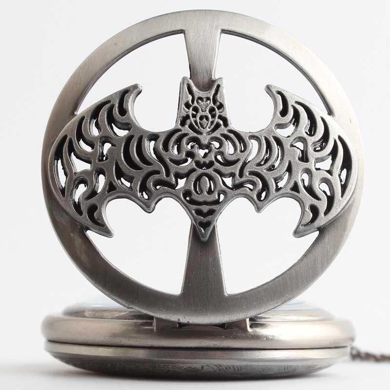 Pocket & Fob Watches  Dark Gray Steampunk Batman Pocket Watch Necklace Mens/Womens Jewelry Watch