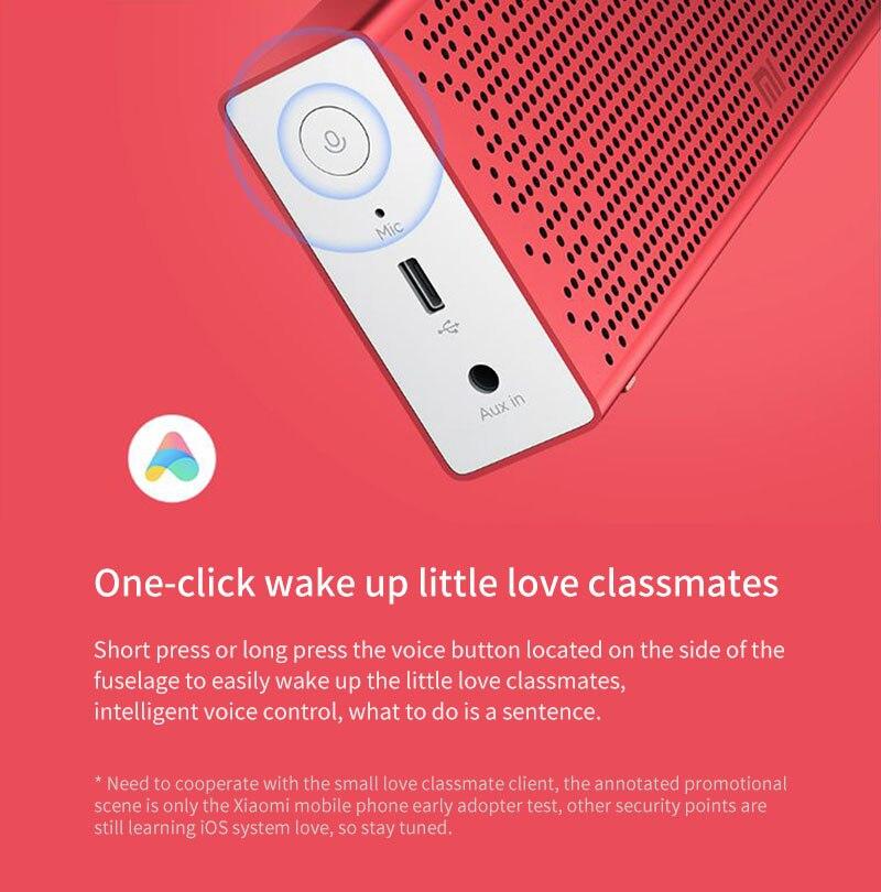 Xiaomi Bluetooth 5.0 haut-parleur Mini sans fil en métal stéréo Portable mains libres petit amour Version musique lecteur MP3 - 3
