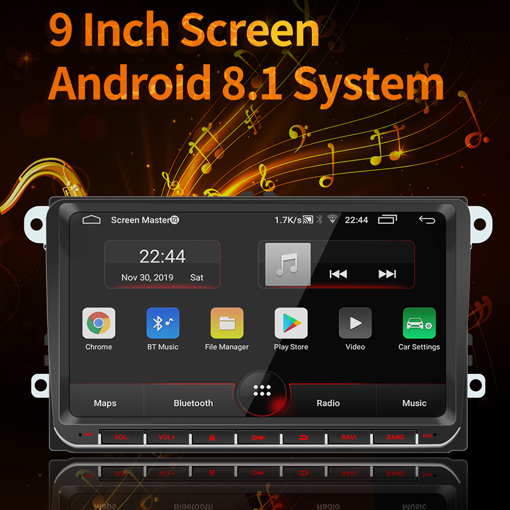 9 ''Touch Screen Auto Multimedia MP5 Player Drahtlose Bluetooth 4,0 Für Android GPS Navigation System Mit USB Adapter Auto zugang