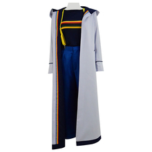 Cossky 13th Doctor Gray Outfit Trench coat Women Cosplay Costume Full Set supernatural castiel twill trench coat suit set coplay costume