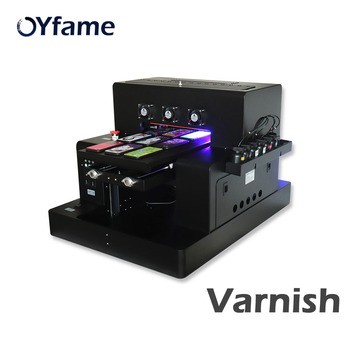 OYfame Automatic A3 UV Flatbed Printer With Varnish For Phone Case Acrylic Bottle A3 UV Printing Machine  Metal Glass UV Printer