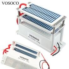 Портативный Керамический озоновый генератор 220 В 24 г двойной интегрированный длинный срок службы керамическая плита озонатор система очистки воздуха и воды озона машина