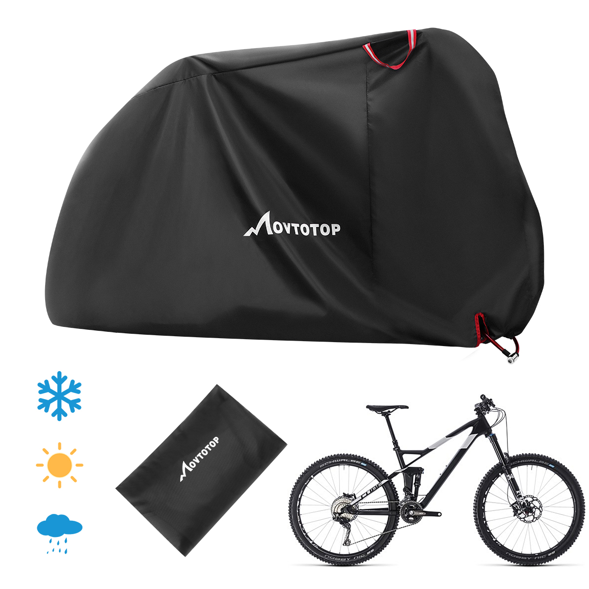 1PC Durable Useful Waterproof Snow Cover Rain Protector UV Protection Dust Protector For Indoor Bicycle Outdoor Scooter