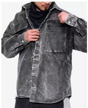 Cav empt 19ss BLEACHED BIG Cowboy Jackets Men Women Coats Streetwear Bomber Camouflage Jeans Hombre Army Jacket
