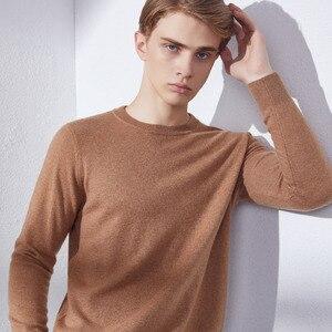 Мужской свитер, 100% кашемировый вязаный пуловер, зимняя новая мода, 10 цветов, свитера для мужчин, одежда