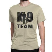 K9 team k9 camiseta masculina de algodão, camiseta casual, gola redonda, malinois, roupas de manga curta para cachorros gráfico gráfico
