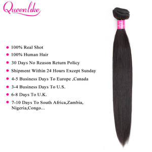 Image 3 - Queenlike ברזילאי שיער Weave חבילות עם 2x6 עמוק Kim K סגר ללא רמי שיער טבעי ערב 3 ישר שיער חבילות עם סגירה