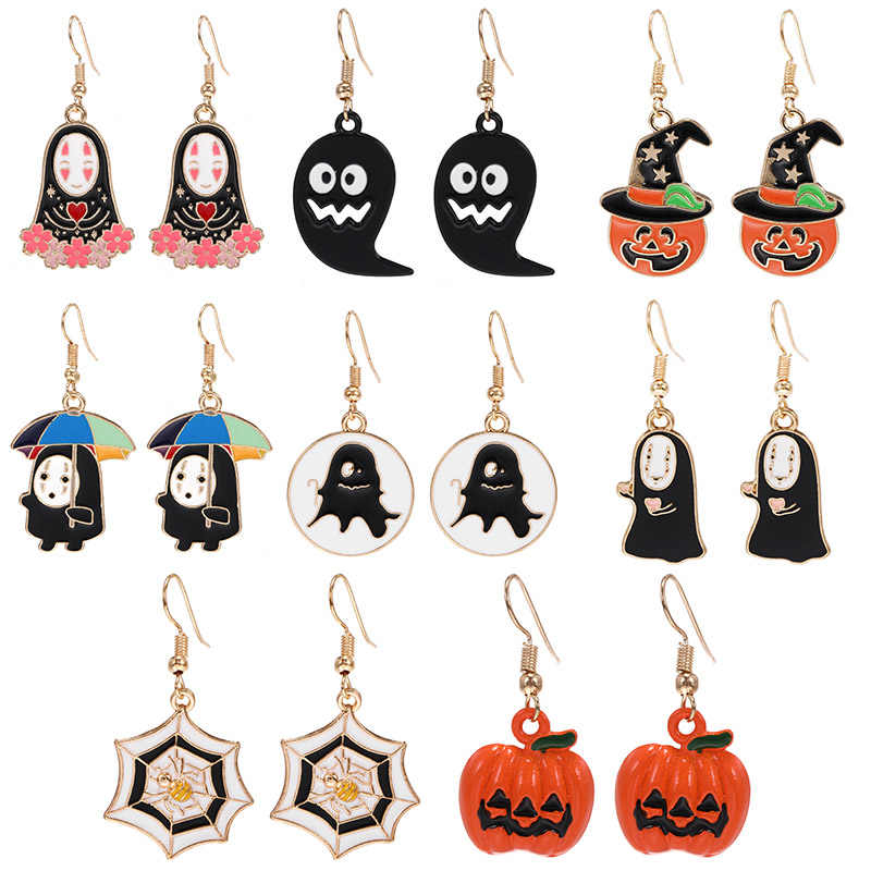 Wholesale Statement Earrings Halloween Gift Spider Squash Dangle Drop Earrings For Women 2019 Fashion Jewelry Oorbellen Brincos