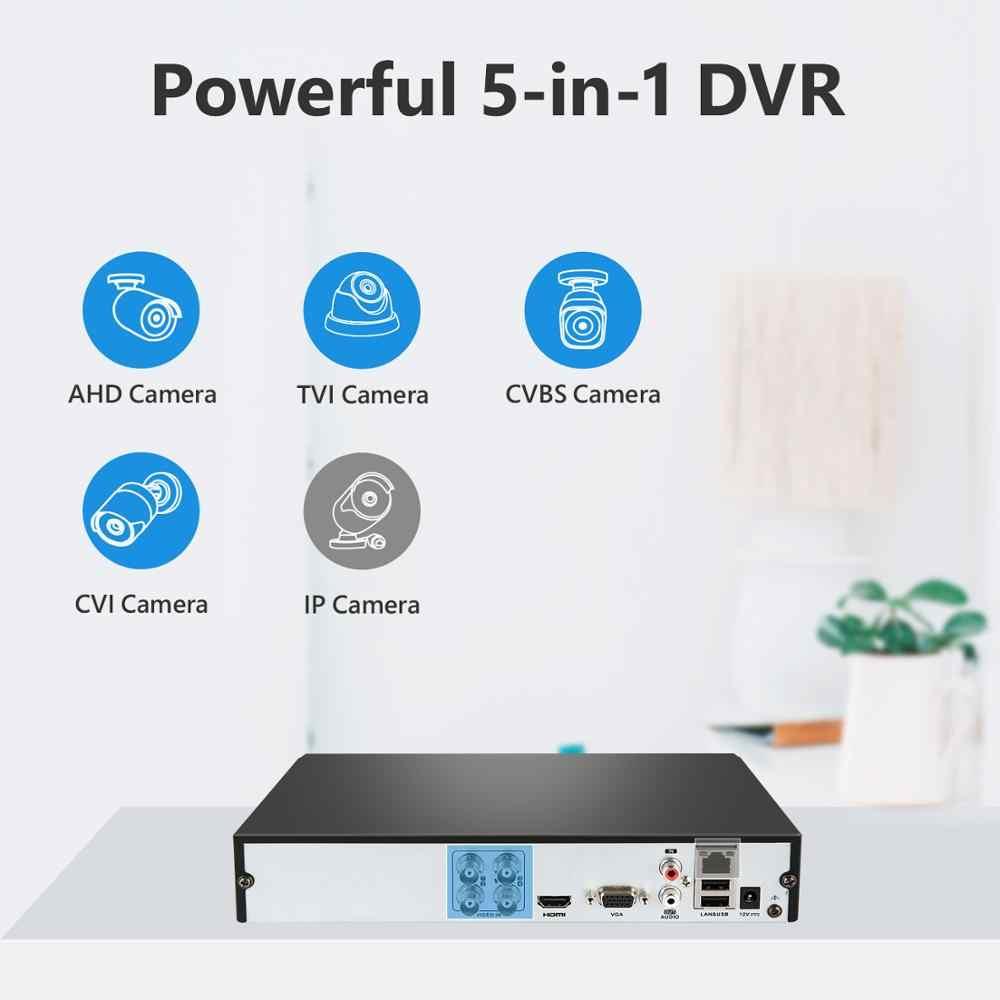 SANNCE 4CH HD 1080P ระบบกล้องวงจรปิด 1080P เอาต์พุต HDMI กล้องวงจรปิด DVR HD 2.0MP กล้องรักษาความปลอดภัย IR Night กันน้ำชุดการเฝ้าระวัง