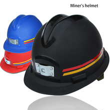 Safety Helmet Hard-Hat Construction Damping ABS for Miner's Anti-Static Adjustable Underground