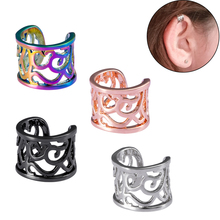 1pc Copper Earrings Clips Ear Cuff Womens Clip on Cuffs Earcuff Dummy Piercing Without Puncture Jewelery