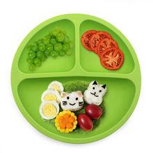 Детская силиконовая обеденная тарелка без бисфенола А милая