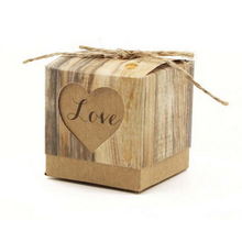 50pcs Wedding Favour Favor Sweet Cake Gift Candy Boxes Bags Anniversary Party Kraft Paper Box