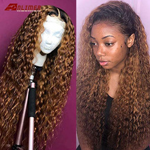 Anlimer Colored Ombre Water Wave Lace Front Human Hair Wigs