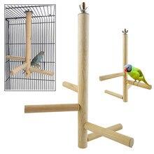 1 conjunto pássaro brinquedo pássaro poleiro vara de madeira natural parrot budgie birdcage escalada escadas brinquedos recém chegados