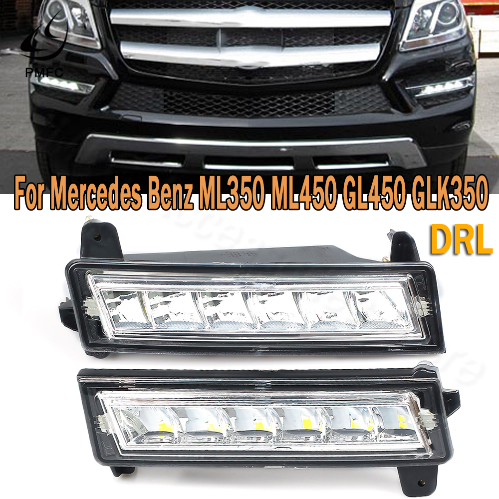 PMFC DRL Front LED Daytime Running Light For Mercedes Benz W164 X164 X204 ML350 ML450 GL450 GLK350 2010 2012 2013 1649060251 image