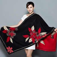 Bufanda de Cachemira para mujer, bufanda de Cachemira de gran tamaño, chal suave, manta multiusos