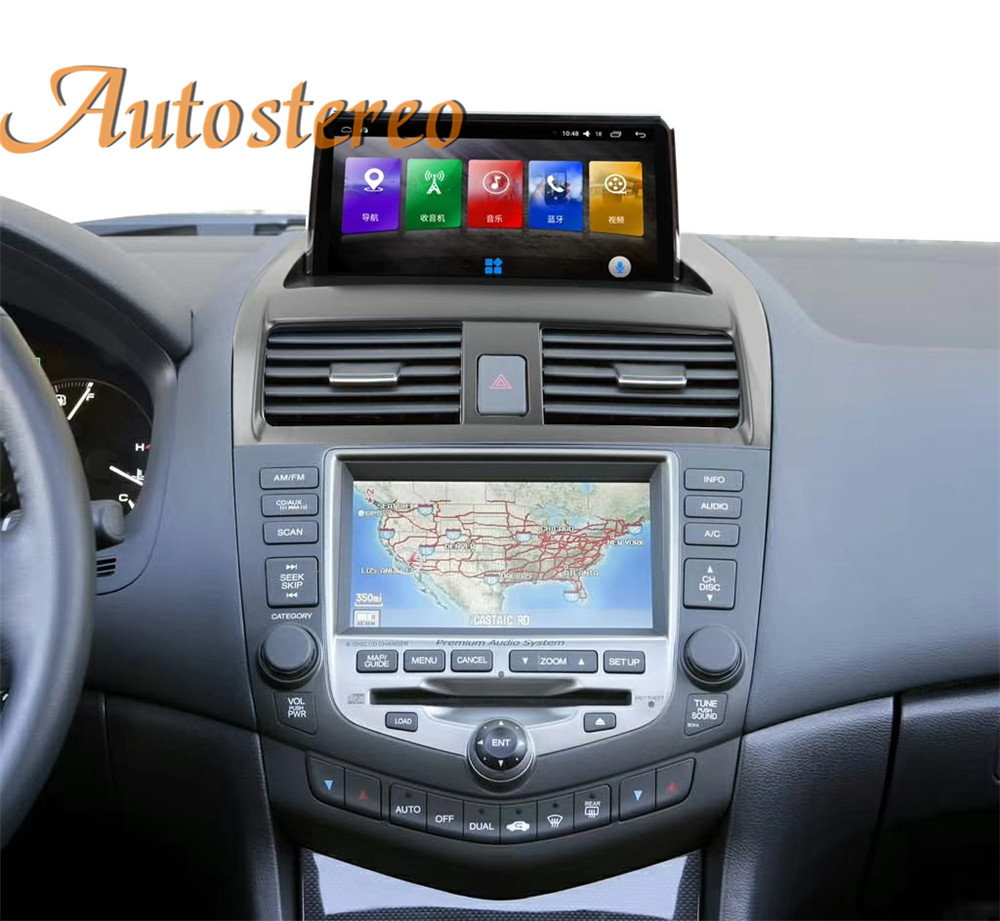 Android 10 4G+64 Car Multimedia Player For Honda Accord 7 Diesel 2003-07 Car GPS Navigation Head unit Radio Tape Recorder Stereo image