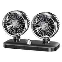 Car Fan 12V 24V For Large Trucks Mini Vans Double Head Powerful Refrigeration Car Electric Fan Large Wind