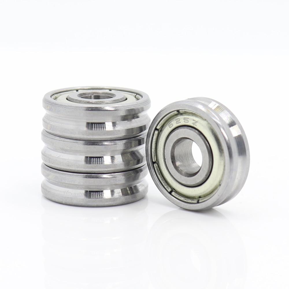 V Groove Sealed Ball Bearing ( 4PCS )  5*16*5 5*19*6 Mm Pulley Wheel Bearings V2/0.5 V2/1 V3/1  Guide Track Rlooer Bearing