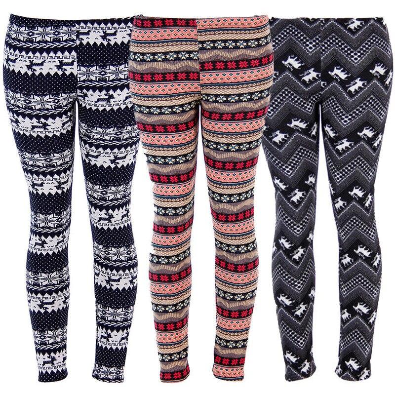 Women Fashion Winter Warm Leggings 2020 New Year's High Elastic Snow Deer Leggings Christmas Snowflake Skinny Stretchy Legging