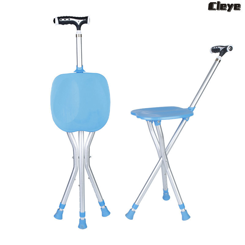 Cleye Aluminium Alloy Folding Crutch Stool And Adjust Height Light Included Wand Chair Manufacturers Direct Selling