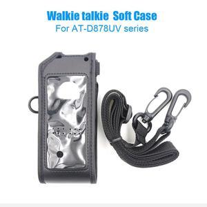 Image 1 - Bolsa de couro macio anytone AT D878UV, bolsa compatível com anytone AT D878UV AT D878UVPLUS walkie talkie