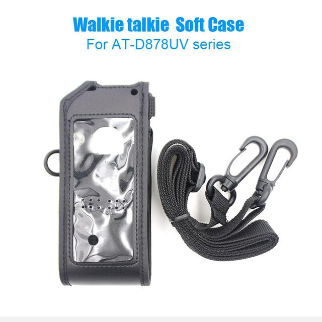 Bolsa de couro macio anytone AT D878UV, bolsa compatível com anytone AT D878UV AT D878UVPLUS walkie talkie