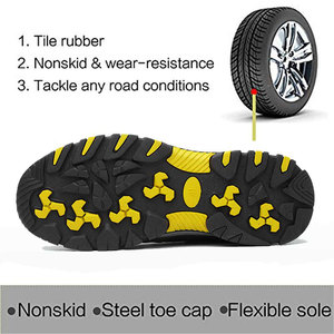 Image 4 - SUADEEX Steel Toe Cap Work Shoes Outdoor Construction Boots Male Female Puncture Proof Safety Shoes Industrial Working Sneakers