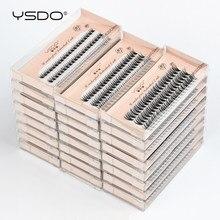 Ysdo cílios individuais atacado 10/20/30/40/50 caixas de extensão cílios maquiagem c curl cílios falsos enxertia cílios 8/10/12mm