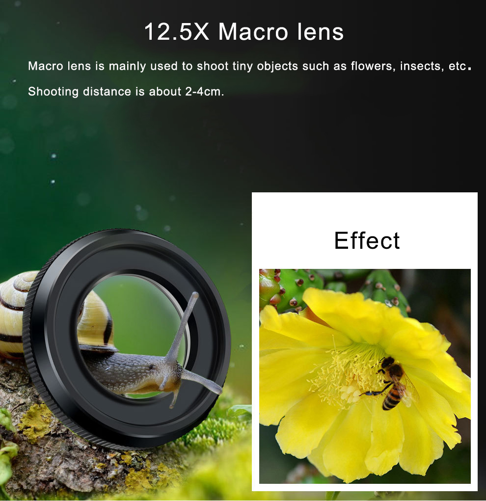 Macro Phone Camera Lens Kit for iPhone Redmi And Samsung And Huawei Phones 5
