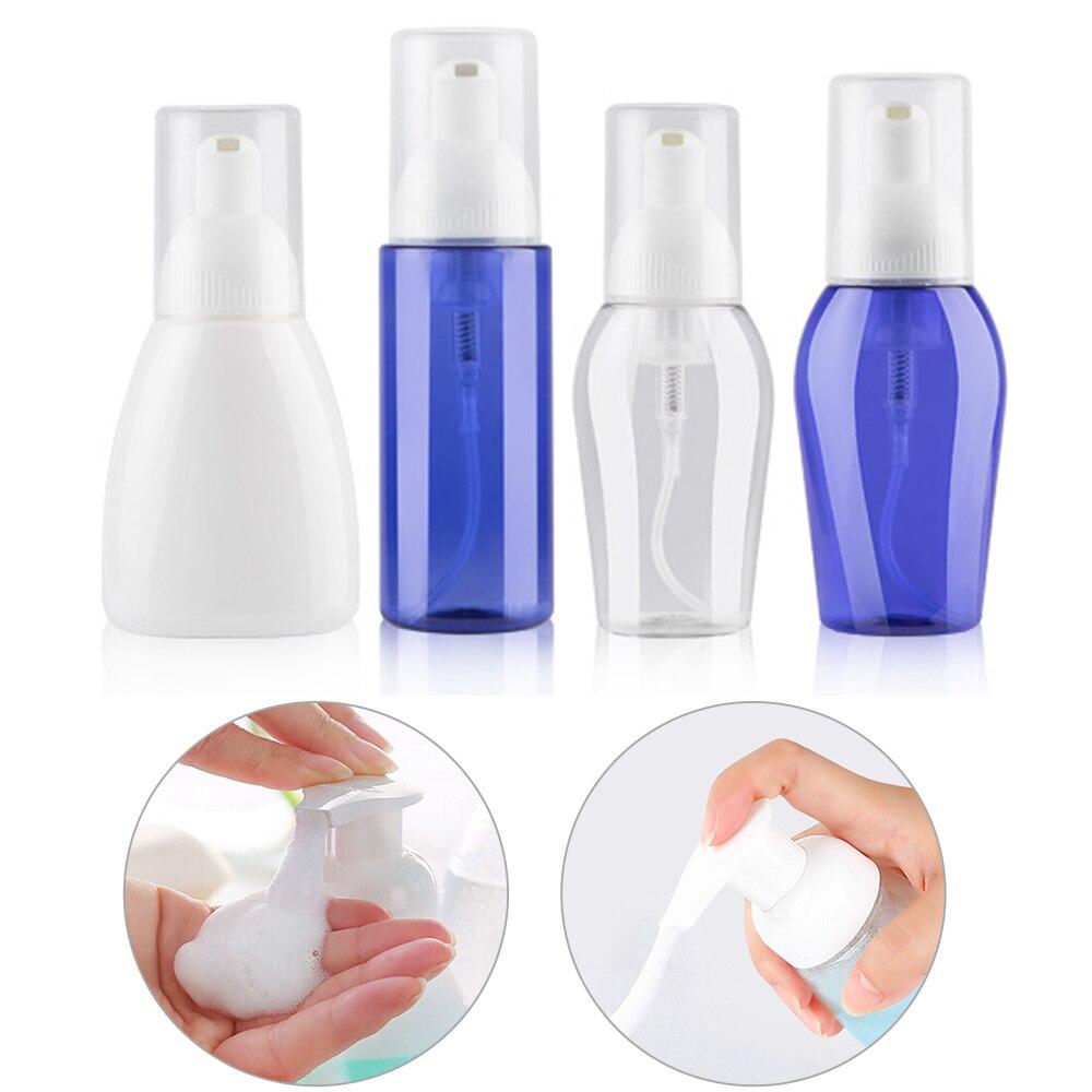 50/80/100/150ml Clear Blue Foaming Bottle Liquid Soap Whipped Mousse Points Bottling Shampoo Lotion Shower Gel Foam Pump Bottles