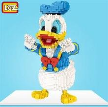 LOZ 9038 dibujos animados pato micro bloques lindo modelo Donalded 1671 Uds educativos bloques de construcción Mini ladrillos para juguetes de los niños
