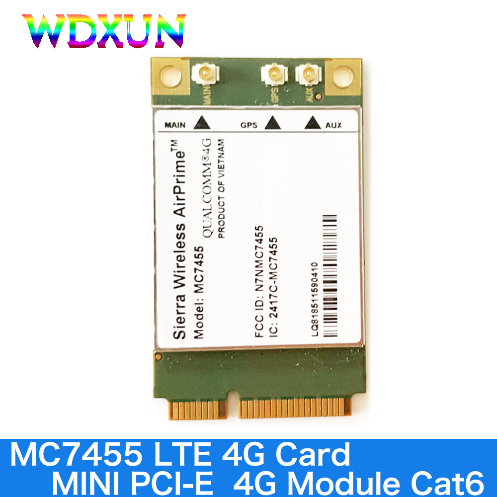 Sierra Wireless AirPrime MC7455 MINI PCIe FDD / TDD LTE 4G Module CAT6 DC-HSPA + GNSS WWAN Card USB 3.0 MBIM Interface