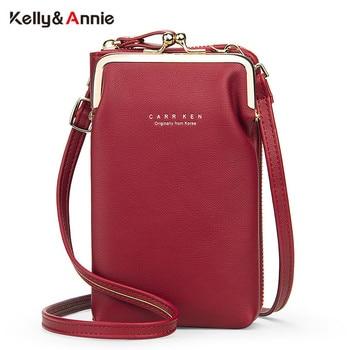 Fashion Small Clip Shoulder Bag For Women Soft PU Leather Crossbody Bag Female Designer Phone Case Ladies Slim Messenger Bag