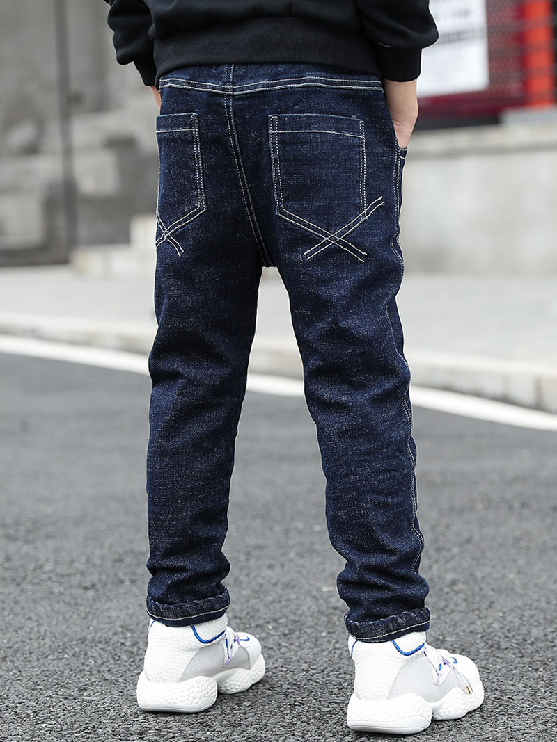 IENENS Toddler Baby Boys Denim Clothing Jeans Kids Casual Trousers Long Pants